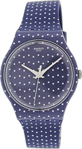 Swatch Unisex SUON106 For the Love of K Blue Polka Dot Watch