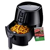 Air Fryer XL, 5.8Qt Electric Hot Airfryer Oven Oilless Cooker with Detachable Nonstick Basket, LCD Touch Screen, Timer Temperature Control, Dishwasher Safe, Auto Shut Off, W/50 Recipes, 1400W