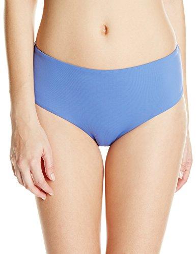 Roxy Junior's Girls Just Wanna Have Fun Mid High Wasted Bikini Bottom, Chambray, Large