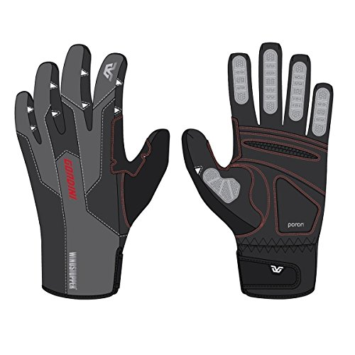 Gordini Men's Swagger Gloves, Black/Gunmetal, Small
