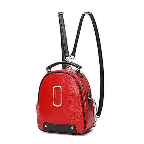 à Mini Sac en Casque backpack Mode Sac BandoulièRe Portefeuille Shopping DéContracté De Trou éTanche Cuir De à Dos Multifonction Red Femme Lady q7U5xnP5