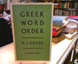 Greek Word Order, Dover, 0521048524