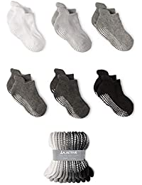 Grip Ankle Socks - 6 Pairs - Baby Toddler Kids Boys Girls Non Slip/Anti Skid