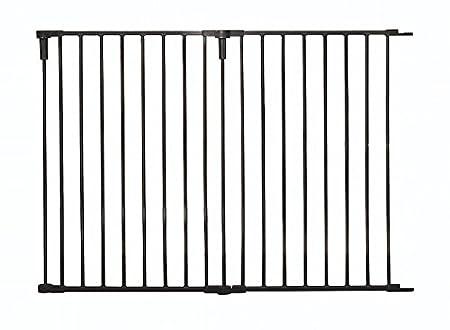 Black 36-Inch Wide Extension Kit Black Regalo Regalo 36-Inch Wide 2 Panel Extension Kit for Home Decor Super Wide Adjustable Gate