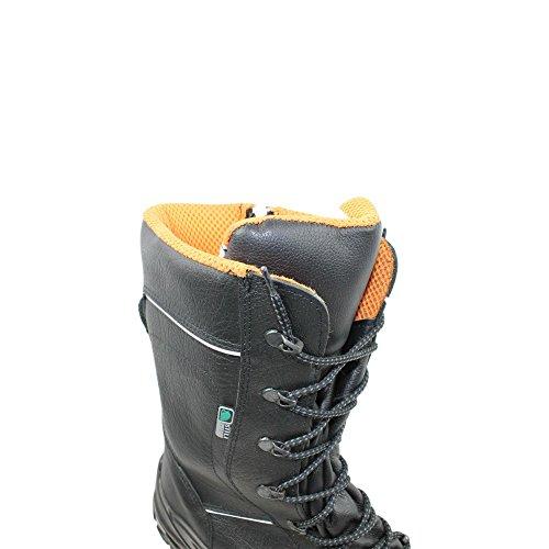 Siili Safety - Calzado de protección de Piel para hombre Negro negro GcU96T1