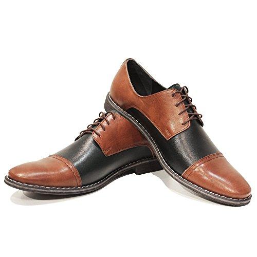 Modello Kano - Cuero Italiano Hecho A Mano Hombre Piel Marrón Zapatos Vestir Oxfords - Cuero Cuero suave - Encaje