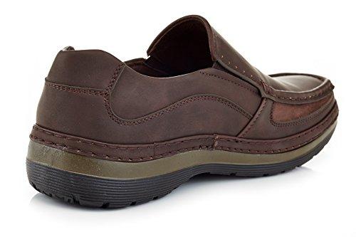 fded4c1f540 Solo Men s Brand Comfort Casual Slip on Work Shoe Parker 300 ...