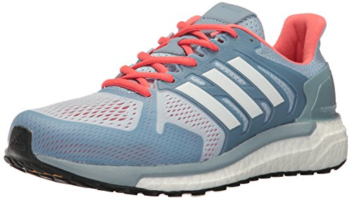 adidas Women's Supernova ST W Running Shoe, Easy Blue White/Easy Coral S,9