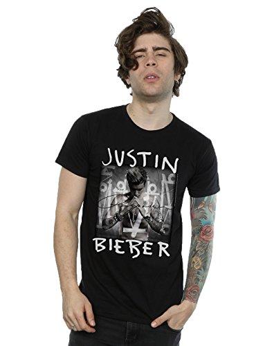 (Justin Bieber Men's Purpose Album Cover T-Shirt Medium Black)