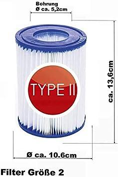 repuesto de filtro de limpieza de piscinas inflable para Bestway 58094 cartucho de filtro tama/ño II y piscina 530//800 gal//h. Cartucho de filtro para piscina JYWJ para Bestway tama/ño 2