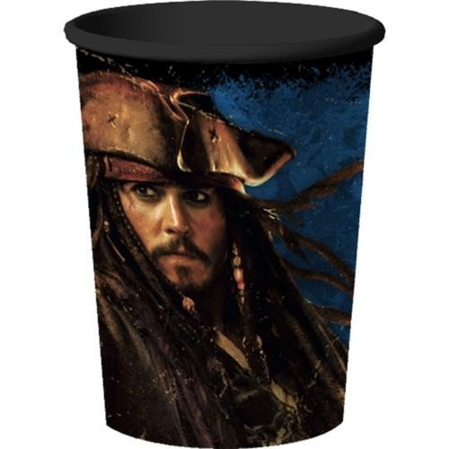 Pirates of the Caribbean 4 - 16 oz. Hard Plastic Cup (1) Party Supplies Captain Jack Sparrow Based