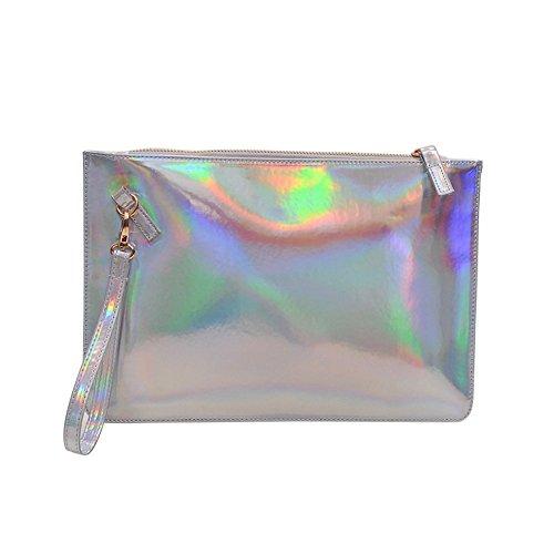 Clutch bag (Silver) by Joy's Favorite