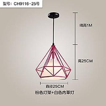 Gqlb Nouveau Diamant Industriel Lustres Lustre Cage à Oiseaux Rose
