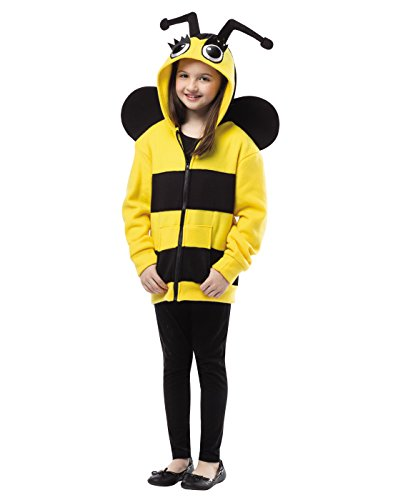 Bumble Bee Costumes Shoes (Rasta Imposta Bumble Bee Hoodie, 4-6)