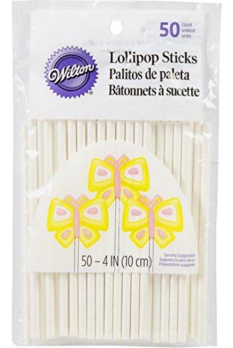 Wilton 4 Inch Lollipop Sticks, 50 Count