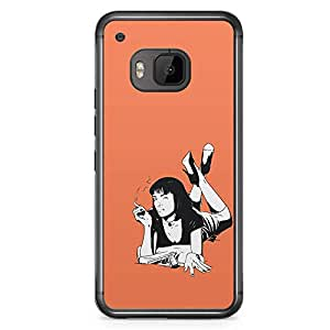 Loud Universe Pulp Fiction HTC M9 Case Mia Wallace Pulp Retro HTC M9 Cover with Transparent Edges