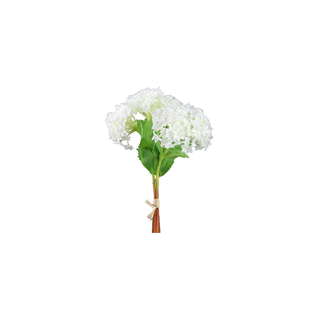 Shinoda Design Center 8623501040 3x12 White Faux Snowball Flower