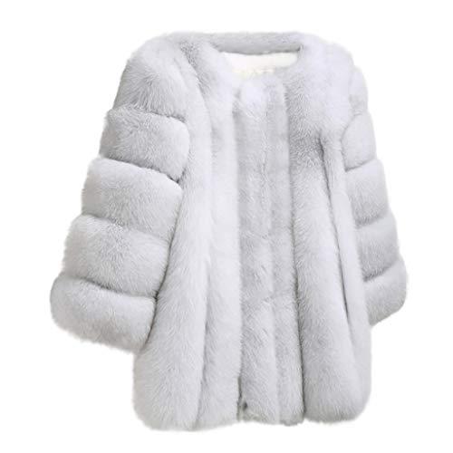 (New Women's Fashion Winter Warm Fuax Fur Long Sleeve Sexy Coat Plus Outwear)