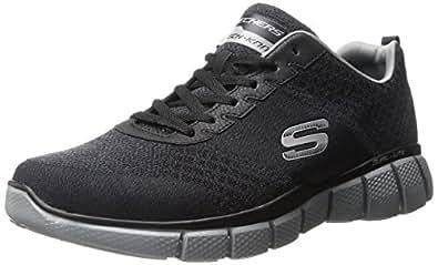 Skechers Men's Equalizer 2.0 True Balance Sneaker,Black/Charcoal,12 4E US