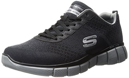 Skechers Men's Equalizer 2.0 True Balance Sneaker,Black/Charcoal,13 4E US by Skechers