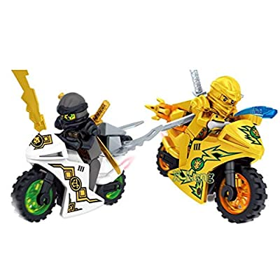 YENJO Cartoon Motorcycle Blocks Kids Educational Brick Building Sets Toy Activity Play Centers(Random Color 1 PCS): Clothing