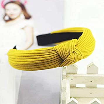 Knot Cross Tie Solid 1 Pc Fashion Hair Band Hairband Knitted Rib Girls Bow Hoop Hair Accessories Velvet Twist Headband Apparel Accessories