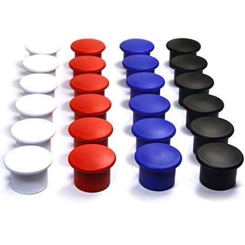 Multi-Color Magnets for Fridge, Magnetic Whiteboard, Metal Cabinets, Lockers and Racks, Strong and Easy Grip Design 24 Pack