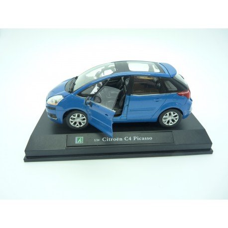 HTC Voiture Citroen C4 Picasso Bleue Metal 1/24°