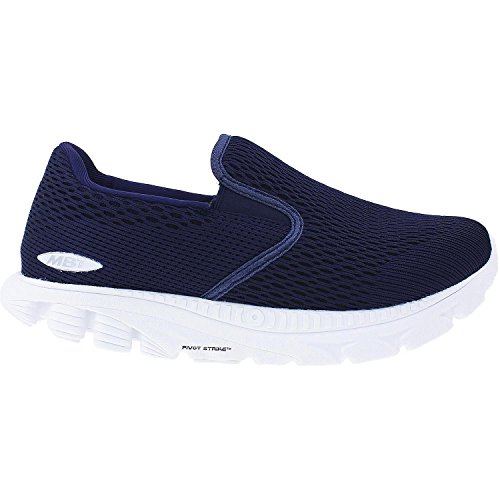 MBT Women's Speed 17 Slip-On Running Shoe Navy Mesh 6 Medium