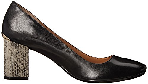 Pump Black Women's Wedge Cirilla Klein Leather Calvin wBqSgIF