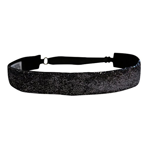 BEACHGIRL Bands Black Diamond Performance Adjustable Headband Hair Band For Women by BEACHGIRL