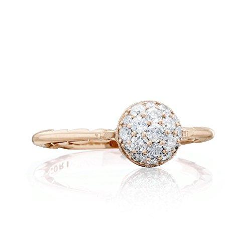 Tacori SR189P 18K Rose Gold Diamond Sonoma Mist Ring, Size 7 (0.40 cttw, H-I Color, I2-I3 Clarity) ()