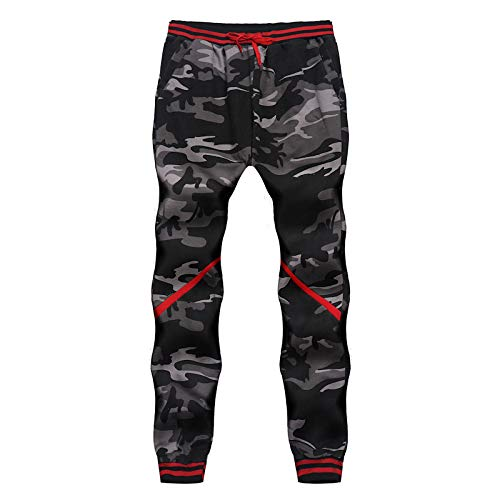 OtoñO Classic Camo OHQ Joggers Caqui Pantalones Azul Negro Hombre Vaqueros Comouflage De Gris Pantalones Gris Bolsillos Sudor Fwqqgfx