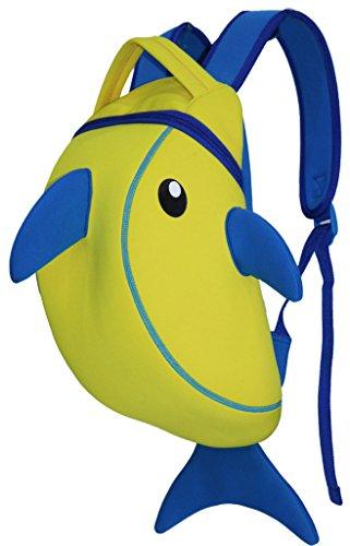 Kids Backpack, icci [Cute] Kids Backpacks Girls Boys Backpacks Best [School] [Hiking] [Travel] Sidekick Bags, Cute Shark Pack Backpacks, Yellow / Blue