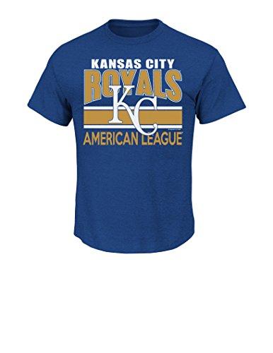 (VF LSG MLB Kansas City Royals Men's This is My City Tee, Small, Royal Heather)