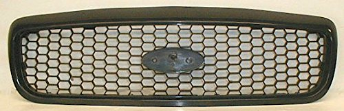 Grille Grill Black Textured Flat Honeycomb Front