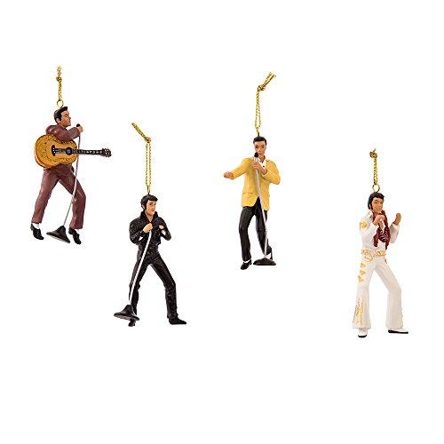 Kurt Adler Elvis Presley 4-Piece Ornament Gift Set,