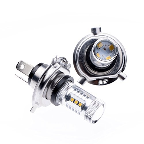 80W White H4 9003 HB2 Samsung 16-LED Dual Beam DRL Running Foglight Bulb For Honda Toyota Nissan Mazda