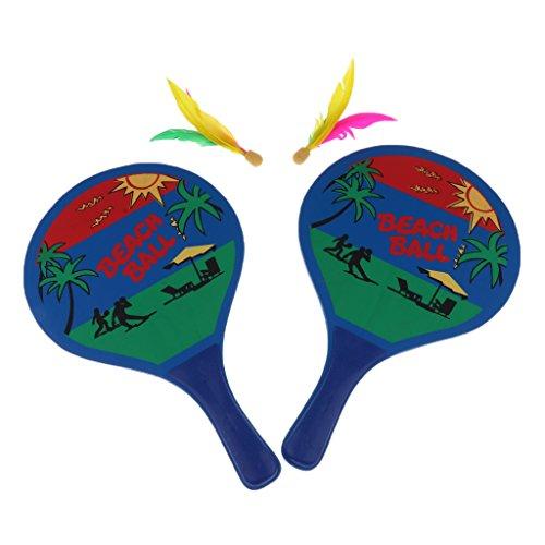 MonkeyJack Beach Ball Paddles / Rackets, Wooden Badminton Table Tennis Bat BACKYARD GAME for Kids / Adults by MonkeyJack