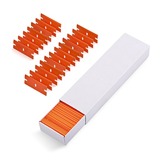 Blade Decals (Ehdis Car Sticker Remover 100 PCS Plastic Razor Blades Edges for Plastic Blade Triumph 1.5