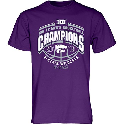 Elite Fan Shop Kansas State Wildcats Big 12 Basketball Champs Tshirt 2019 Conference - XL - ()