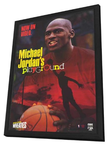 Michael Jordan's Playground - 11 x 17 Framed Movie Poster (Jordan Playground Poster)