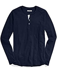Men's Long-Sleeve Lightweight Slub Henley,