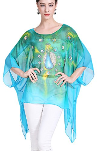 Fits Claude Di Le Rose 100 All One Monet Casa Camicetta Estate Spiaggia Tunica Kimono Seta Poncho Sotto Size Dalla Prettystern Vestito OqfZFzxwx