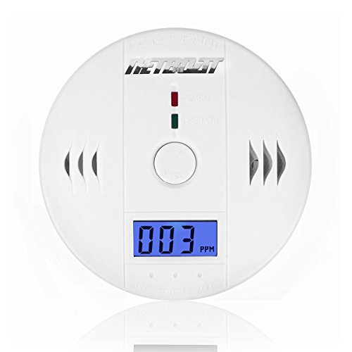 CO Detector NetBoat LCD Portable Security Gas CO Carbon Poisoning Monitor Monoxide Warning Alarm Sensor Detector Battery Powered (Battery not included) - Carbon Monoxide Detector Natural Gas