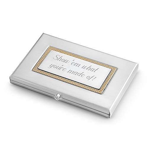 Things Remembered Personalized Classic Business Card Case with Engraving Included ()