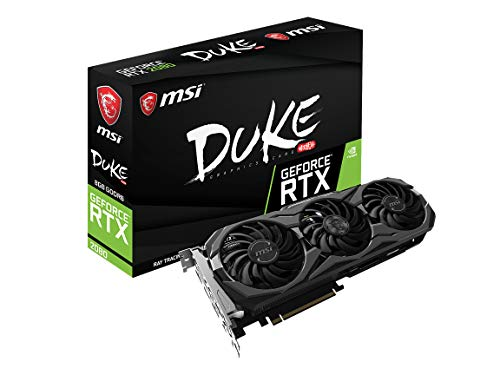 - MSI Gaming GeForce RTX 2080 8GB GDRR6 256-bit VR Ready Graphics Card (RTX 2080 DUKE 8G OC)