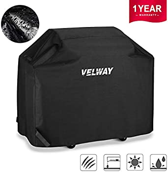 Velway 58 Inch Burner Barbecue Covers Waterproof UV Gas Grill Cover
