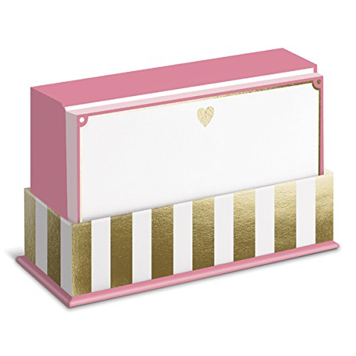 Gold Heart Flat Notes Heart Note Card