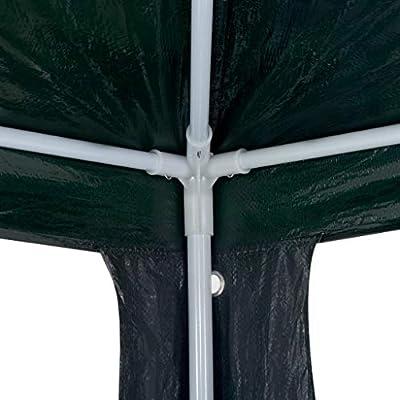 vidaXL Party Tent PE Green 9'10